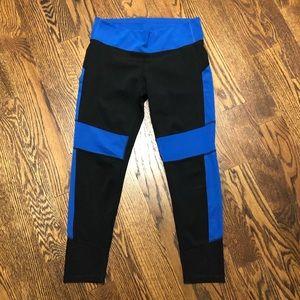 Adidas Climalite Black and Blue Leggings